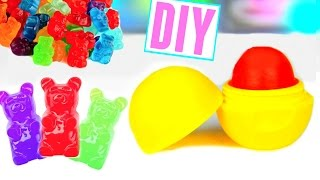 getlinkyoutube.com-DIY EOS out of GUMMY BEARS! Make Lip Balm Out Of Candy!