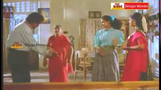 getlinkyoutube.com-Aa Okkati Adakku - Telugu Movie - Rajendraprasad & Rambha First Night Scene
