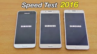 Samsung Galaxy J7 vs J5 vs J3 (2016) - Speed Test! (4K)