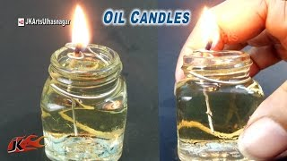 getlinkyoutube.com-Small Oil lamp / Candle from Waste Bottles | How to make | JK Arts 927