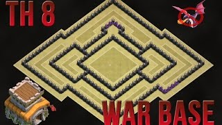getlinkyoutube.com-Clash Of Clans - BEST TH8 WAR BASE - ANTI DRAGON - AIR SWEEPER