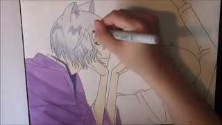 Drawing Tomoe & Nanami from Kamisama Hajimemashita [ 神様はじめました ]