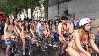 getlinkyoutube.com-LONDON NAKED BIKE RIDE 2016 -Full HD