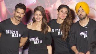 UNCUT: Udta Punjab Trailer Launch   Shahid Kapoor, Kareena Kapoor,Alia Bhatt, Diljeet
