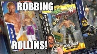 getlinkyoutube.com-STEALING SETH ROLLINS WWE Elite Figure From TOYSRUS Wrestling Toy Hunt!
