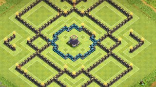 getlinkyoutube.com-Clash of Clans: NEW Townhall 9 Centralized DE Farming Base! ll 4 Mortars ll End March 2015 Edition
