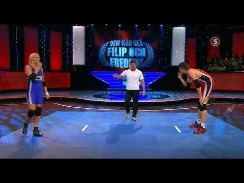Wrestling Man Ws Woman!