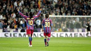 Leo Messi's debut in El Clásico / El debut de Messi contra el Real Madrid width=