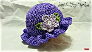 getlinkyoutube.com-CROCHET How to #Crochet Easy Ladies Spring time Hat #TUTORIAL #199 LEARN CROCHET