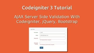 getlinkyoutube.com-Codeigniter 3 - Ajax Server Side Validation