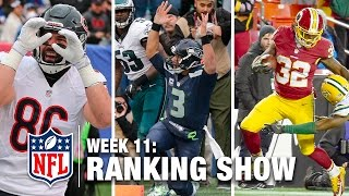 getlinkyoutube.com-Week 11 Rankings Show | Top 10 Plays, Top 3 Celebrations & More! | NFL