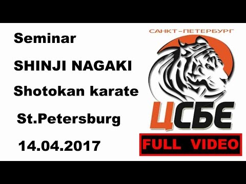 Seminar 16: SHINJI NAGAKI Shotokan karate St Petersburg 14 04 2017