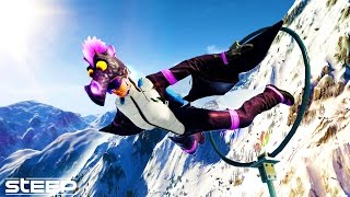 getlinkyoutube.com-99.99% IMPOSSIBLE CHALLENGE - STEEP: DRAGON WINGSUIT HARDEST RACE EVER - STEEP FUNNY MOMENTS & FAILS