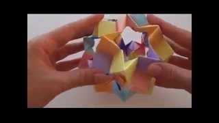 getlinkyoutube.com-Кусудама оригами   Волшебный шар из бумаги