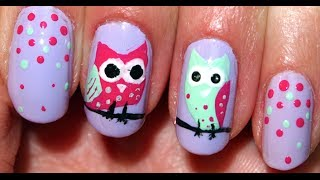 ❤ Cute Owl Nails ❤
