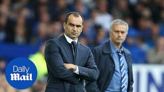 Jose Mourinho swears at Roberto Martinez in furious bust-up - Daily Mail