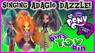 getlinkyoutube.com-Equestria Girls Singing ADAGIO DAZZLE My Little Pony Doll Review! by Bin's Toy Bin