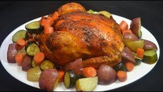 getlinkyoutube.com-Pollo al horno con hierbas y vegetales