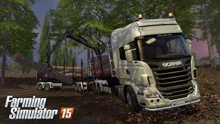 getlinkyoutube.com-Farming Simulator 15: Scania R730 Timber truck