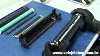 getlinkyoutube.com-Vídeo Recarga Toner HP Q5949A | 49A | 1160 | 1320  - Vídeo Aula Valejet.com