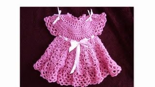 getlinkyoutube.com-CROCHET PATTERN, PINK GIRL DRESS, PART 2