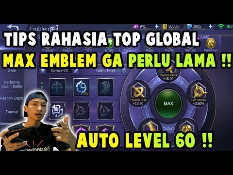 Cara Cepat Max Emblem Mobile Legend