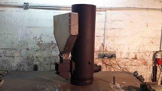 getlinkyoutube.com-Hybrid-Raketenofen: Umbau des alten Ofens / Hybrid-Rocket Stove