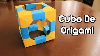 getlinkyoutube.com-Origami Cube / Cubo De Origami TUTORIAL!