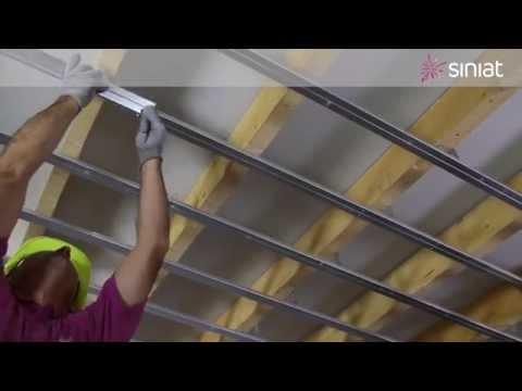 Montaj plafon gips-carton perforat - Pregybel BD 13