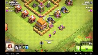 getlinkyoutube.com-Clash Of Clans TH5 [Farming Base] Speed Build + Replays!