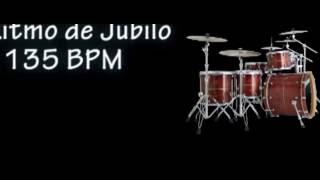 Ritmo de bateria para tocar coros alegres -135 BPM - Musica Cristiana