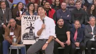 Funny Justin Trudeau vs Hecklers - You're gonna get tackled!