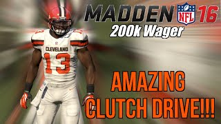 getlinkyoutube.com-AMAZING Clutch Drive In 200k Coin Game! | Madden 16 Ultimate Team Gameplay
