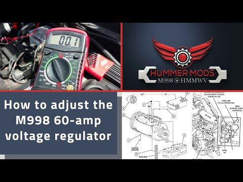 M998 HMMWV Alternator/Generator Adjustment on a 60 amp unit 28.5v proper Battery maintenance