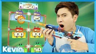 getlinkyoutube.com-캐빈의 장난감 총 K-force로 목표물 사격 놀이 l 캐리 앤 플레이
