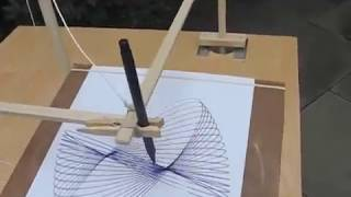 getlinkyoutube.com-Three Pendulum Rotary Harmonograph