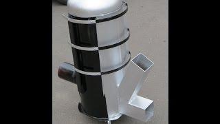getlinkyoutube.com-Piec rakietowy ANDRZEJ koza holzgas rocket stove heater