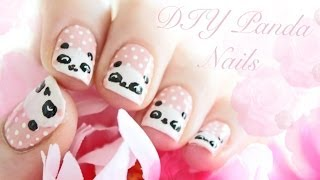 Cute Panda Nails Tutorial!