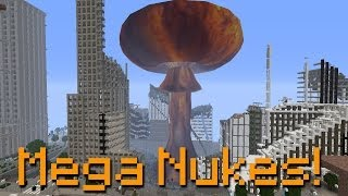 getlinkyoutube.com-Minecraft MEGA NUKES, Stealth Bombers and Forcefields - Rival Rebels Mod #2