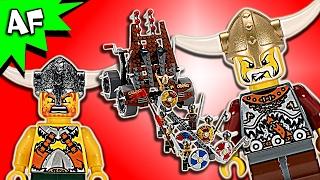 getlinkyoutube.com-Lego Castle ARMY of VIKINGS w/ Heavy Artillery Wagon 7020 Speed Build - BricksPlanet