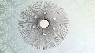 getlinkyoutube.com-اشغال يدوية : صنع مرآة جميلة و بادوات بسيطة
