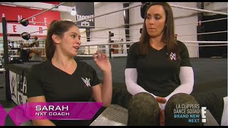 getlinkyoutube.com-NXT Coaches sarah stock and sara del rey advices eva marie&mandy