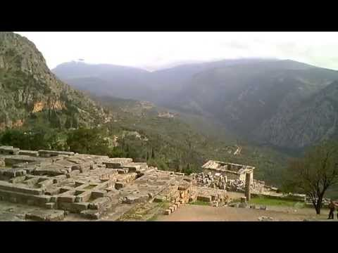 GOD APOLLO'S TEMPLE - DELPHI, GREECE