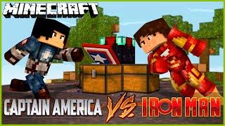 getlinkyoutube.com-Minecraft: IRONMAN VS CAPITÃO AMÉRICA (SuperWars)
