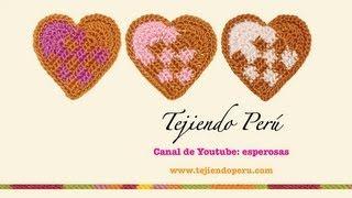 getlinkyoutube.com-Corazón entrelazado tejido a crochet
