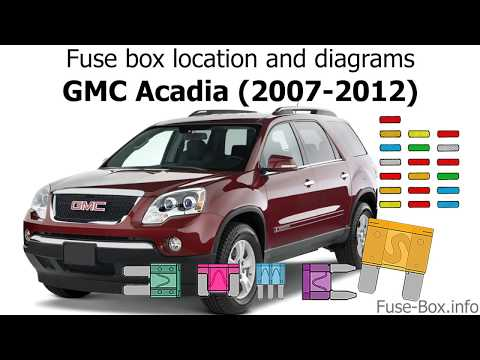 Fuse box location and diagrams: GMC Acadia (2007-2012)
