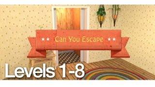 getlinkyoutube.com-Can You Escape Walkthrough Levels 1-8
