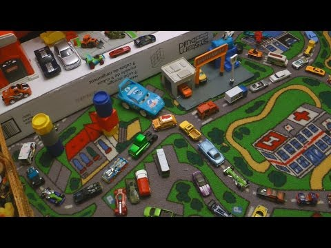 FUN CARS PLAY SET with HOTWHEELS TRACKS Kids Playmat Creativity IMAGINATION