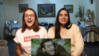 Salman Khan Funny scene reaction by Irene and Maria   Reaction Video
