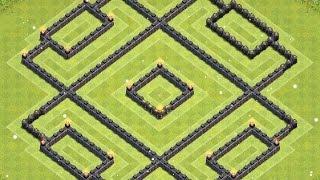 getlinkyoutube.com-Clash Of Clans   Awesome TH9 Hybrid Base (The Rubix)!